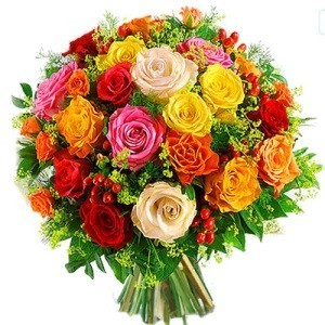 Inviare online bouquet di rose colorate