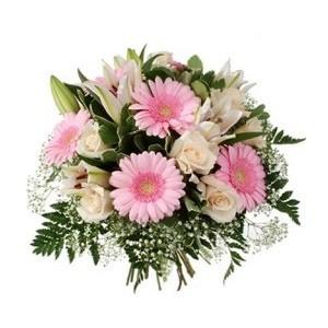 Inviare online bouquet rosa e bianco