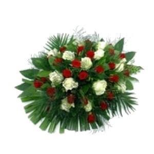 Inviare online bouquet di rose rosse e bianche