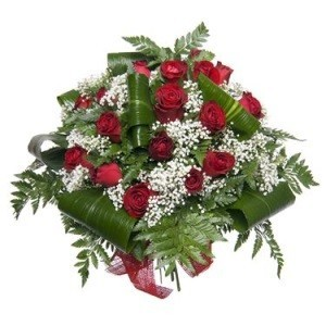 send online red roses arrangement
