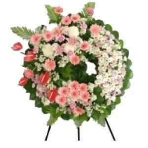 Inviare online corona con fiori misti