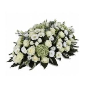 Inviare online cuscino di fiori bianchi